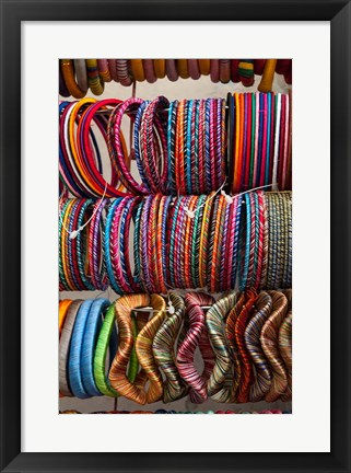 Framed Bracelets, Pushkar, Rajasthan, India. Print