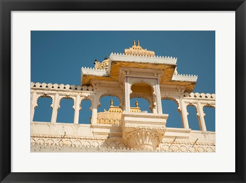Framed City Palace, Udaipur, Rajasthan, India. Print