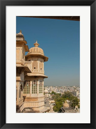 Framed Turret, City Palace, Udaipur, Rajasthan, India Print