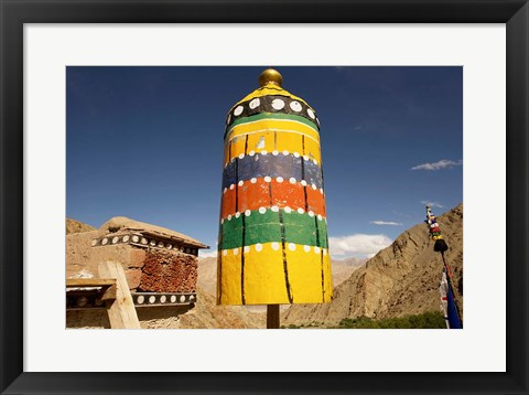 Framed Colorful structure, Gompas And Chortens, Ladakh, India Print