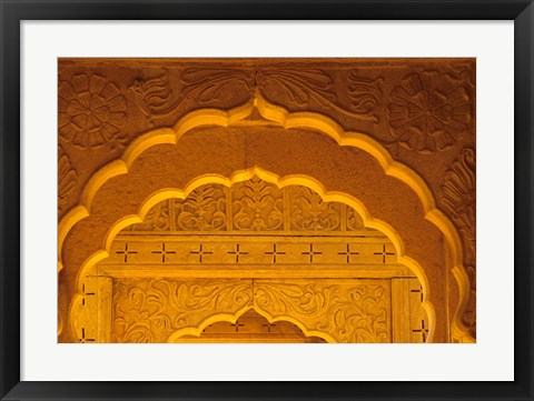 Framed Carved Sandstone Arches, Jaisalmer, Rajasthan, India Print