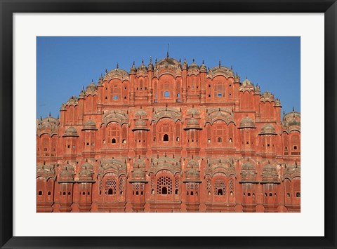 Framed Hawa Mahal (Palace of the Winds), Rajasthan, India Print
