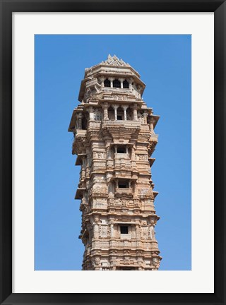 Framed Victoria Tower in Chittorgarh Fort, Rajasthan, India Print