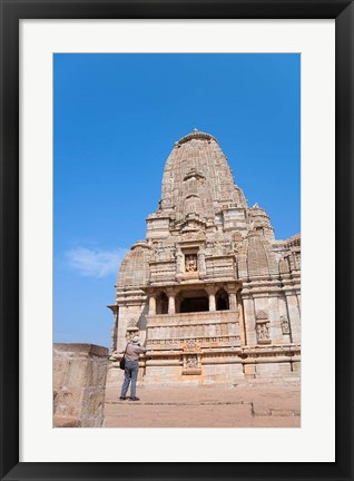Framed Jain Temple in Chittorgarh Fort, Rajasthan, India Print