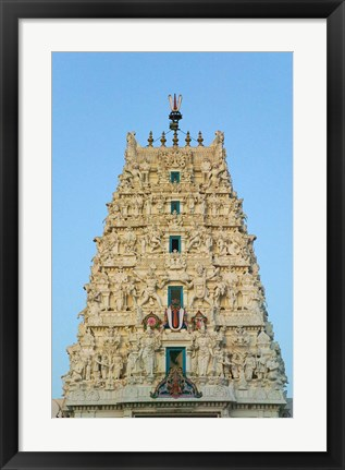Framed Hindu Temple in Pushkar, Rajasthan, India Print