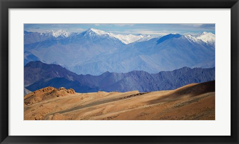 Framed Landscape of the Himalayas, Taglangla Pass, Ladakh, India Print
