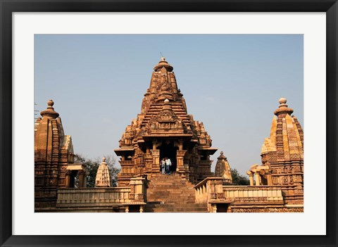 Framed India, Khajuraho. Lakshmana Temple at Khajuraho Print