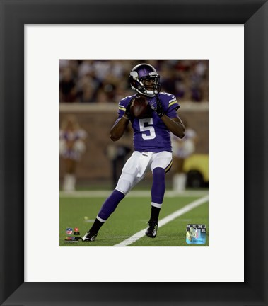 Framed Teddy Bridgewater 2014 Action Print