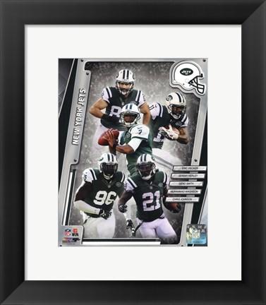 Framed New York Jets 2014 Team Composite Print