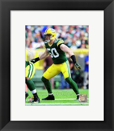 Framed A.J. Hawk 2014 Action Print
