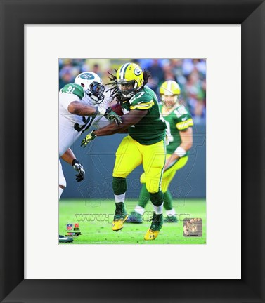 Framed Eddie Lacy 2014 Action Print