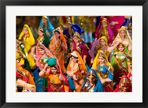 Framed Figurines at the Saturday Market, Goa, India Print