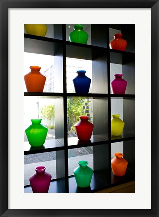 Framed Plastic Water Jugs in the Park Chennai Hotel, India Print