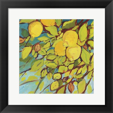Framed Lemons Above Print