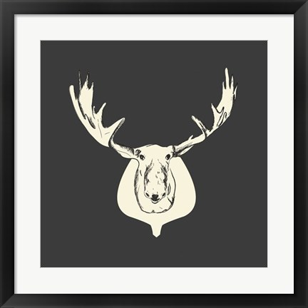 Framed Harrison Moose Print