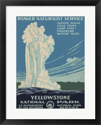 Framed Yellowstone National Park Print