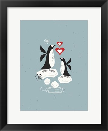 Framed Penguin Love Print