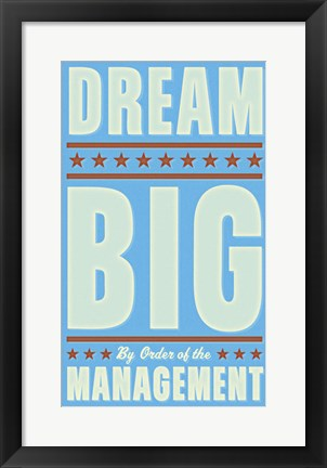 Framed Dream Big (blue) Print