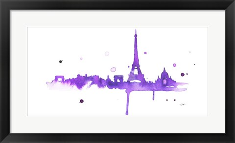 Framed Purple Paris Print