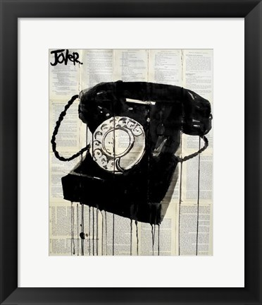 Framed Black Phone Print