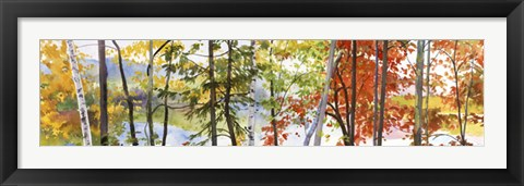 Framed Autumn Lake II Print