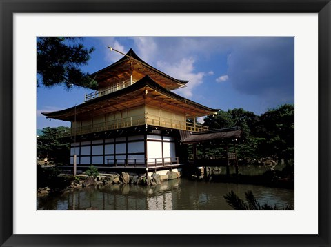 Framed Golden Pavilion, Zen Temple, Kinkakuji, Kyoto, Japan Print