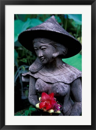 Framed Shrine of Buddha with Flower Decoration, Bali, Indonesia Print