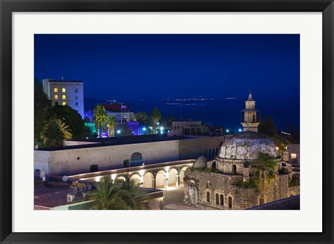 Framed Israel, The Galilee, Tiberias, Al-Amari Mosque Print