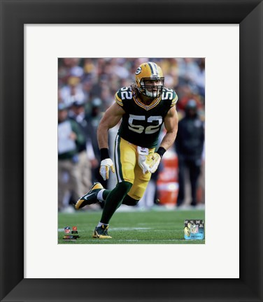 Framed Clay Matthews 2014 Action Print
