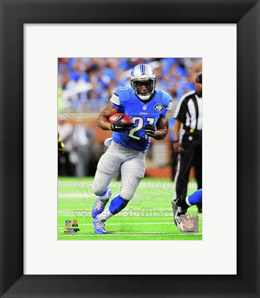 Framed Reggie Bush Running Football Print