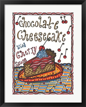 Framed Chocolate Cheesecake Print