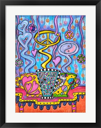 Framed Cup Of Peace And Harmony Print