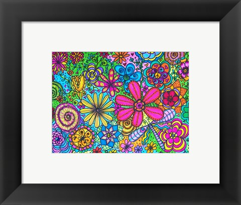 Framed Flowers! Print