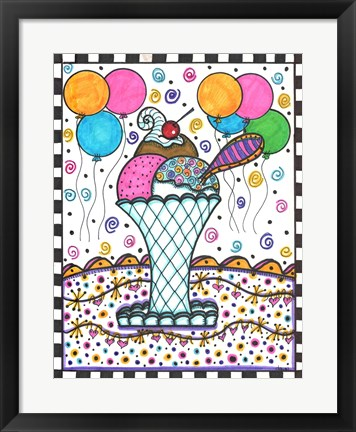 Framed Ice Cream Makes Everything A Party Print