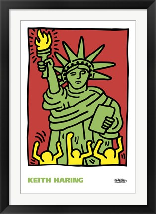 Framed Statue of Liberty, 1986 Print