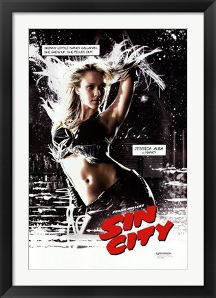 Framed Sin City - Nancy Print