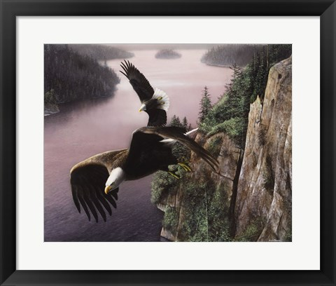 Framed Wings Over the St. Croix Print