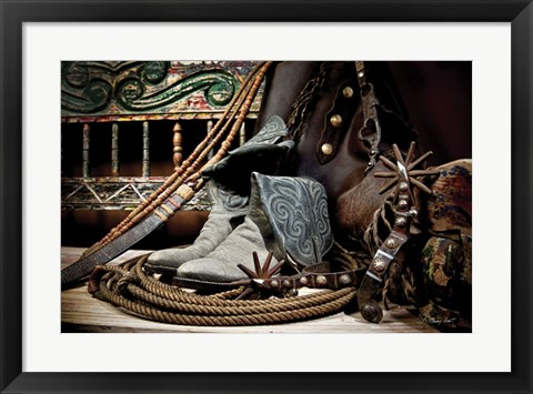Framed TC's Boots and Yuma Spurs (color) Print