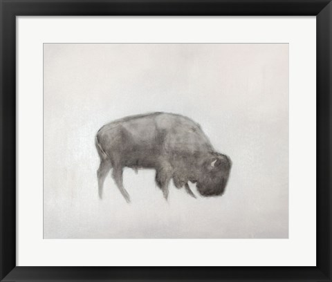 Framed Buffalo (left) Print