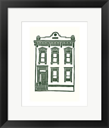 Framed Williamsburg Building 1 (Manhattan Ave. between Jackson and Withers) Print