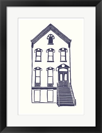 Framed Williamsburg Building 5 (Next Door on Maujer) Print