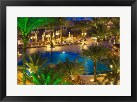 Framed Jordan, Aqaba, Hotel swimming pool, resort Print