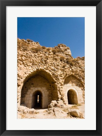Framed crusader fort of Kerak Castle, Kerak, Jordan Print