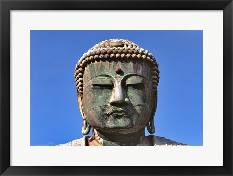 Framed Japan, Kanagawa, Great Buddha, the bronze Daibutsu Print