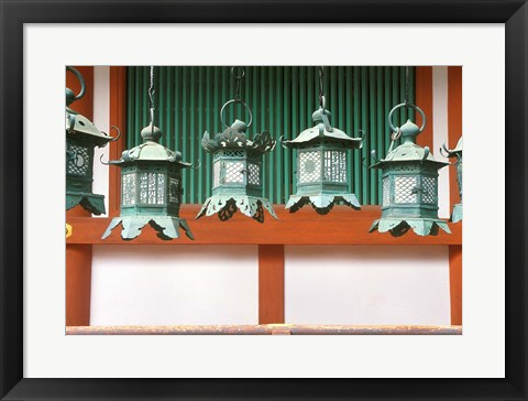 Framed Kasuga Lanterns, Kasuga Shrine, Nara, Japan Print