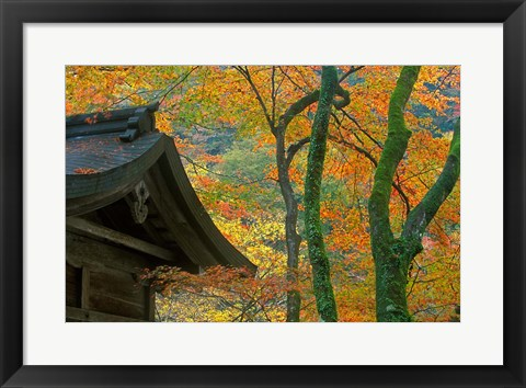 Framed Kibune Shrine, Kyoto, Japan Print