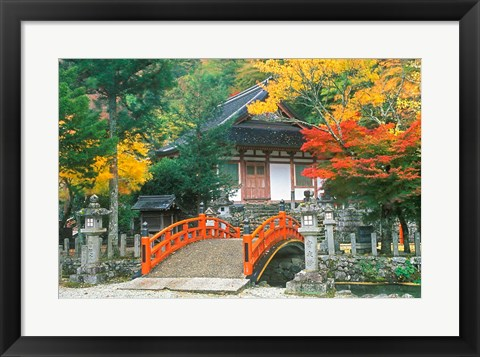 Framed Ryuzenji Temple, Nara, Japan Print