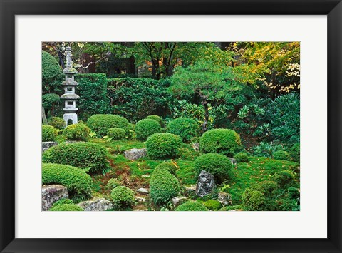 Framed Sanzen-in Temple, Ohara, Kyoto, Japan Print
