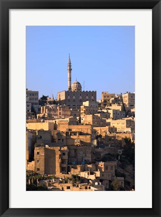 Framed Aerial view of traditional houses in Amman, Jordan Print