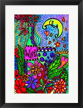 Framed Moonlit Picnic Print